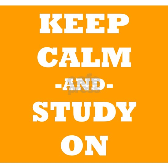 Keep Calm And Study On (Orange)