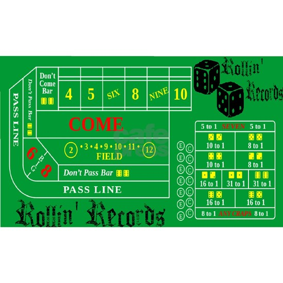 Rollin Records Craps Table