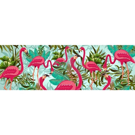 Pink Flamingos Fabric Pattern