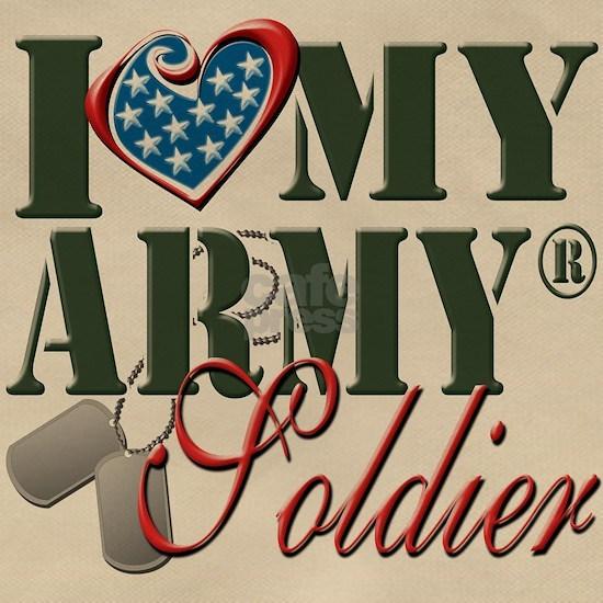 I Love My Army Soldier Veteran Patriotic 4th Of Ju