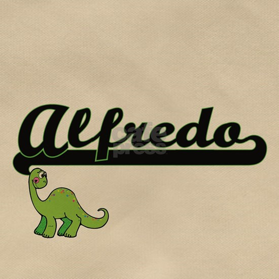 Alfredo Classic Name Design with Dinosaur