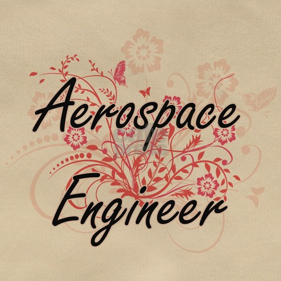 Aerospace Engineer Artistic Job Design with Flower
