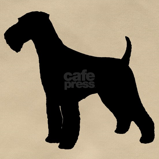 Airedale Black Silhouette