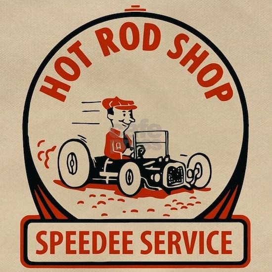 Hot Rod Shop Cartoon