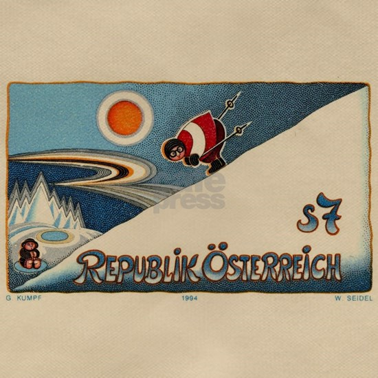 1994 Austria Skier Postage Stamp