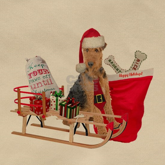 Airedale Merry Christmas