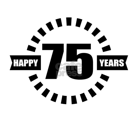 Happy 75 Years Birthday Designs