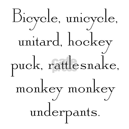 Monkey Monkey Underpants