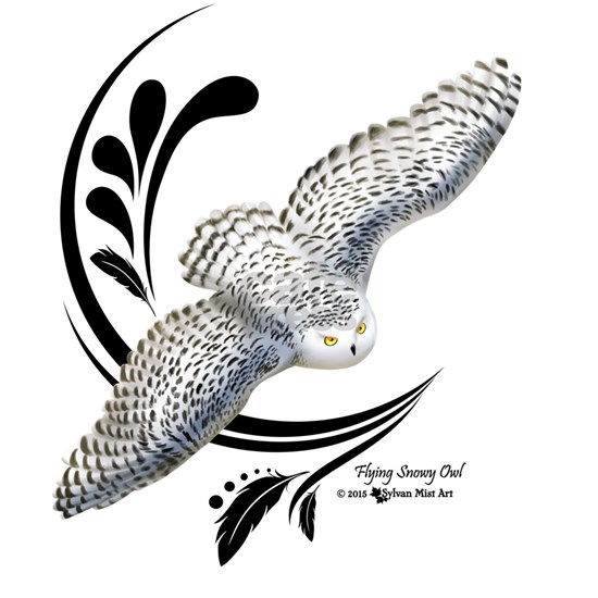 Flying Snowy Owl
