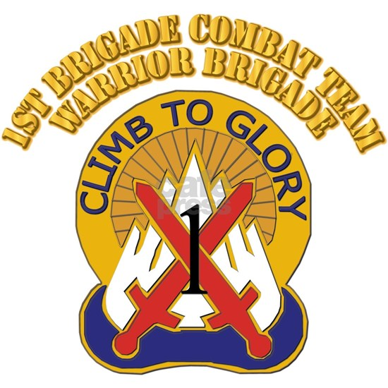 DUI - 1st BCT - Warrior Brigade with Text