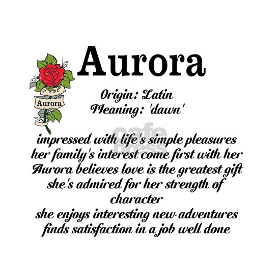 Aurora Name Meaning Design iPad Sleeve