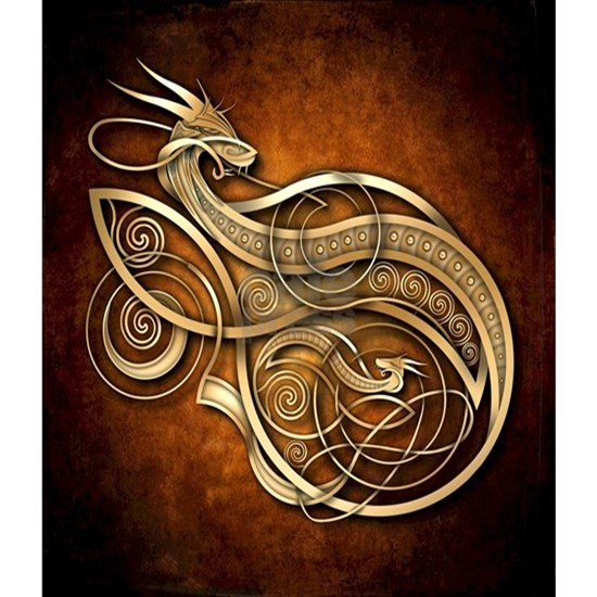 Gold Norse Dragon