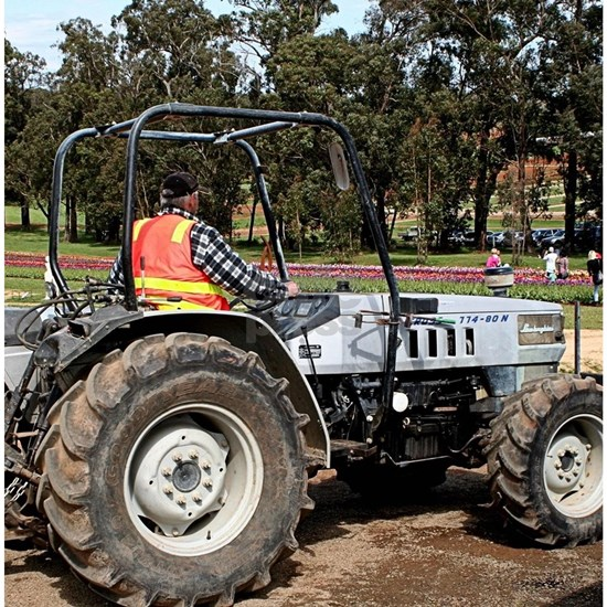 Tractor amongst the tulips, Dandenongs, Victoria