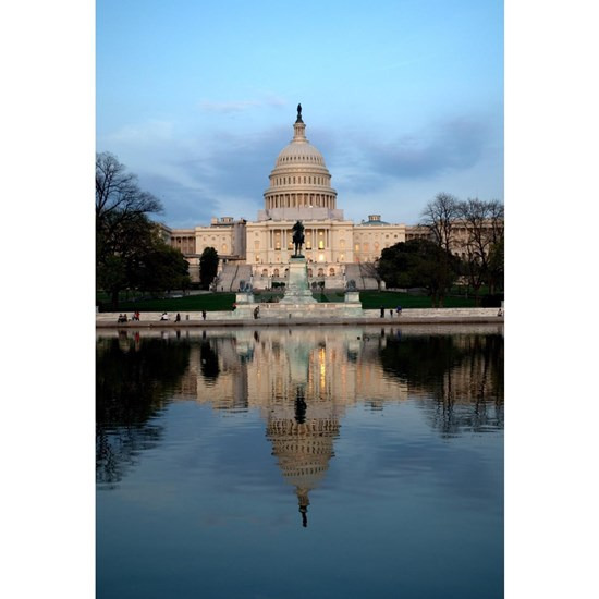 U.S. Capitol Building with Reflection