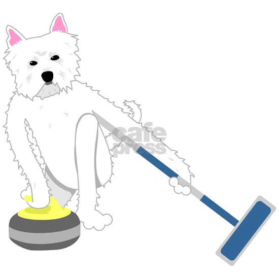 West Highland White Terrier Curling