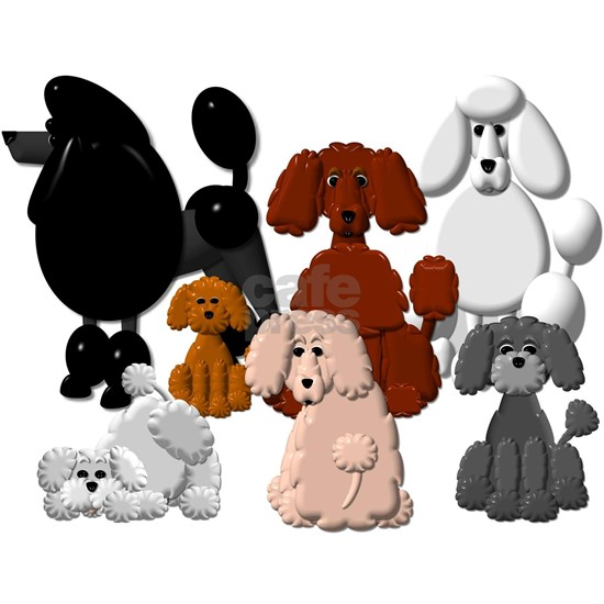 TINY POODLE PACK COLLAGE