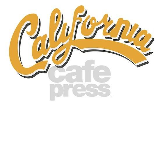 California Retro Script Font Shower Curtain