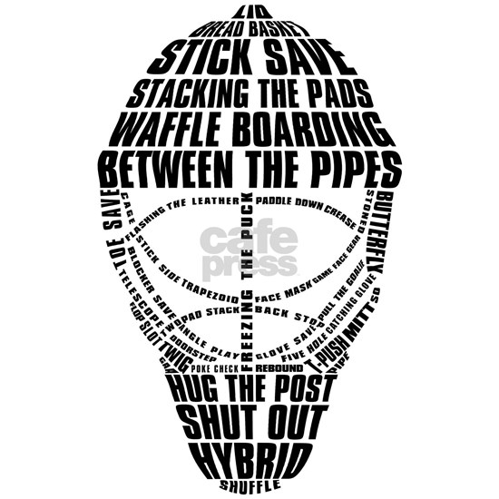 Hockey Goalie Mask Typography