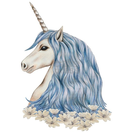 White Unicorn Drawing