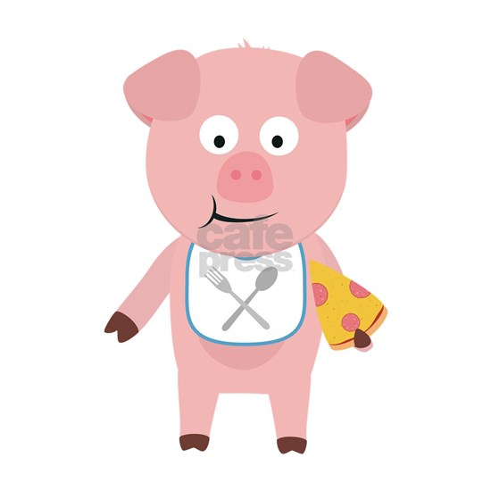 Pig eating Pizza