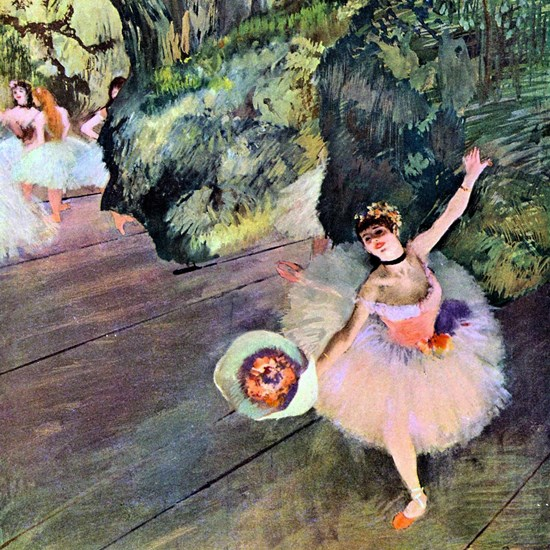 Edgar Degas Dancer With Flowers