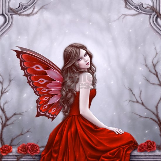Winter Rose Butterfly Fairy