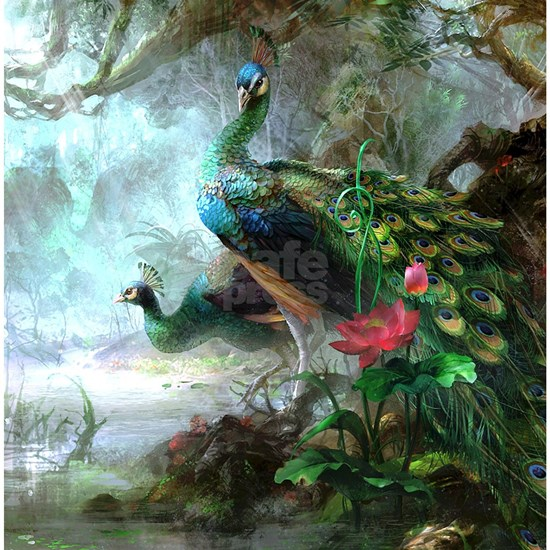Beautiful Peacock Painting Shower Curtain By Daecu Cafepress
