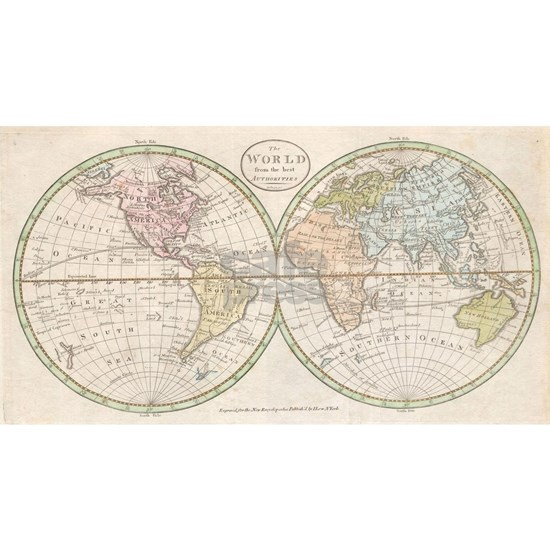 Vintage Map of The World (1798)
