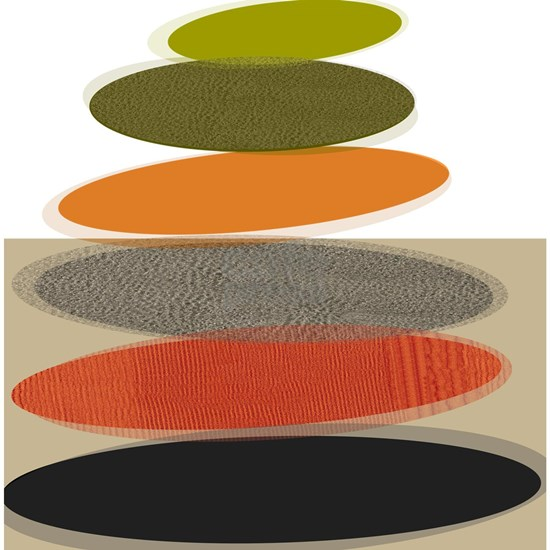 Mid-Century Modern Ovals and Abstracts