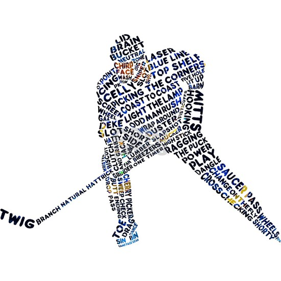 Hockey Player Typography