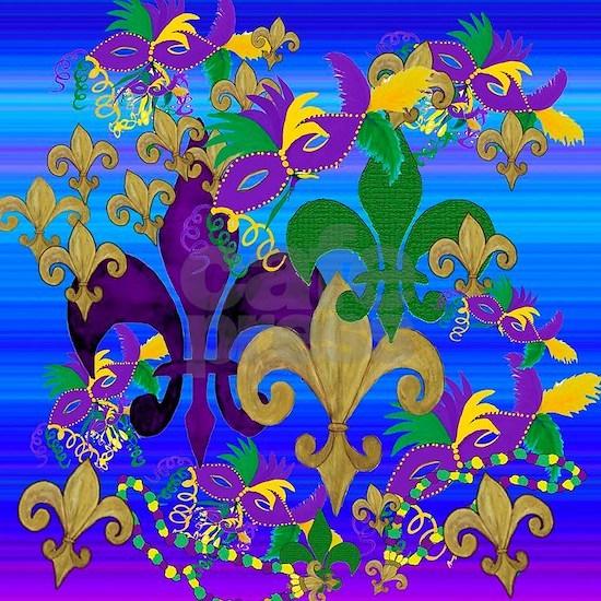 Mardi Gras fleur de lis blast