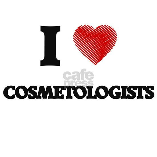 I love Cosmetologists (Heart made from words)