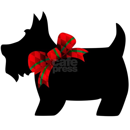 Scottie dog with bow