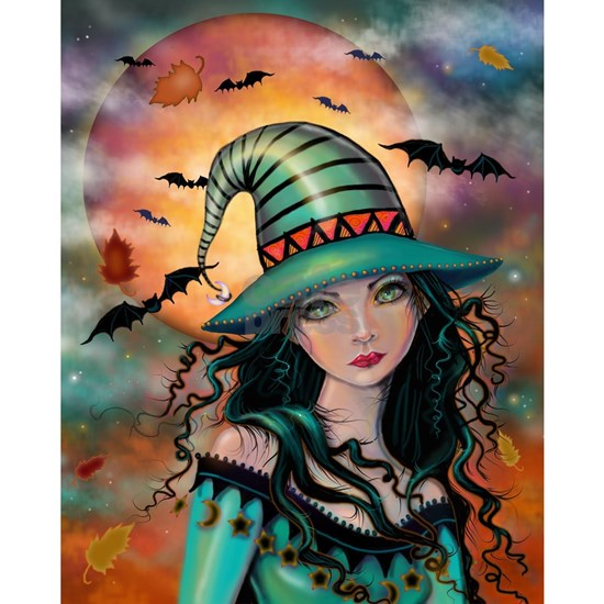 The Jade Witch Halloween Fantasy Illustration by M