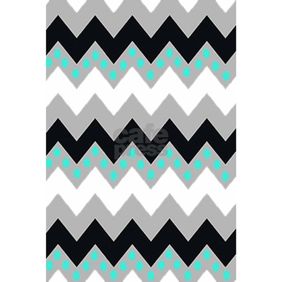 Black and White Chevron Polka Dots