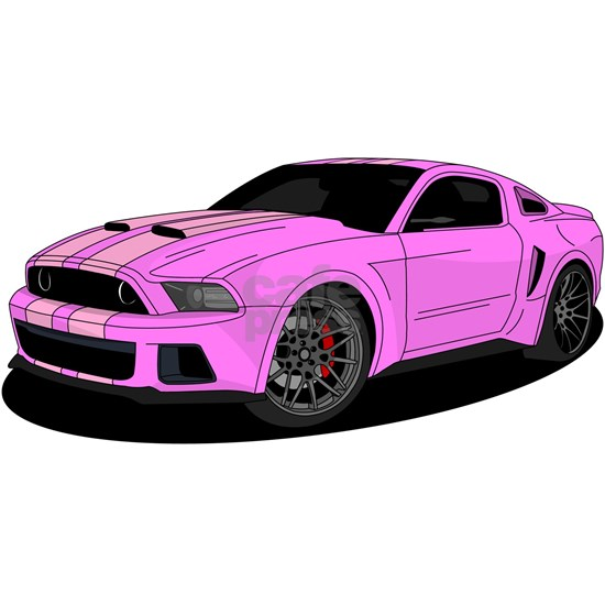 Muscle car purple
