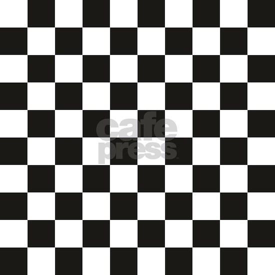 Black White Checkerboard Checkered