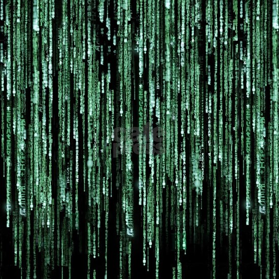 Matrix Code Queen Duvet