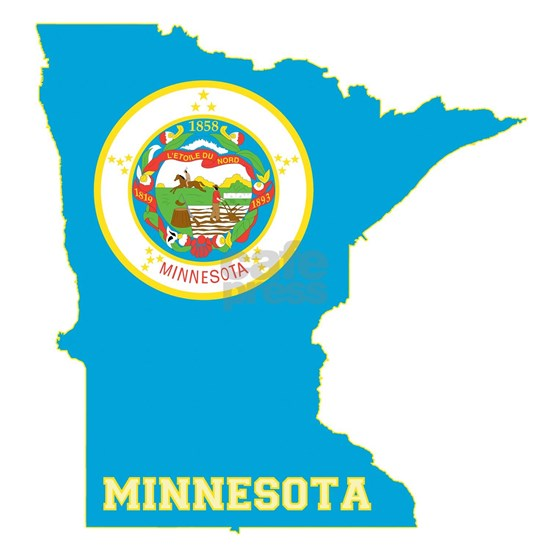 Minnesota State Flag Map