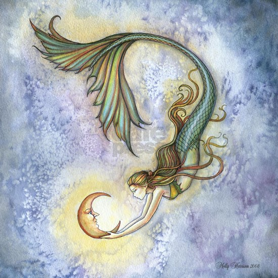 Deep Sea Moon Mermaid Fantasy Art