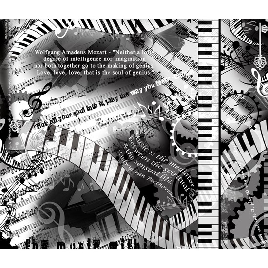 Piano Music Quotes Print Keyboard Design