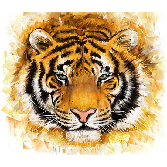 Artistic Tiger Face