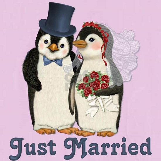 PenguinWedding-JustMarried