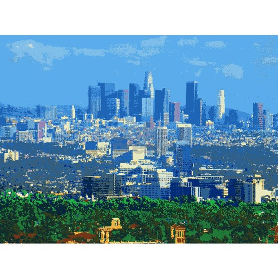 Los Angeles Pixel Art Version 20 Puzzle