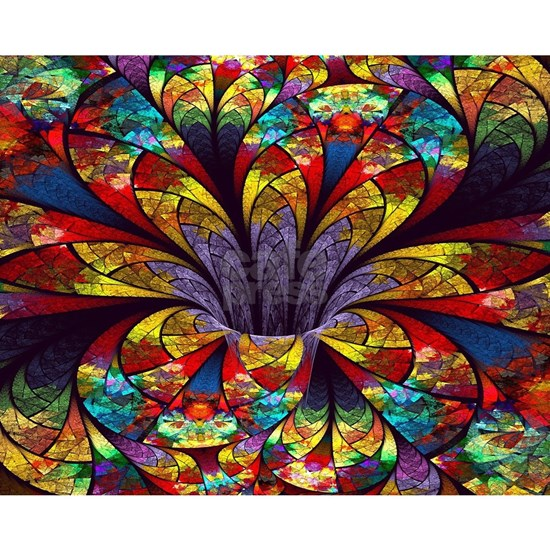 Fractal Stained Glass Bloom