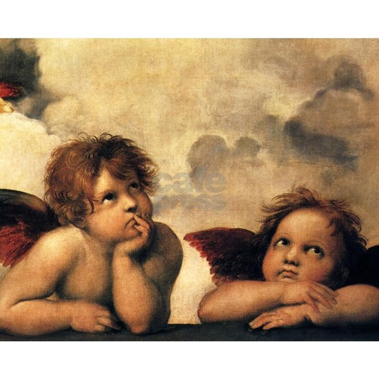 Angels by Raphael, Vintage Renaissance Art
