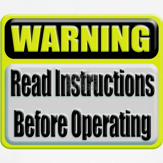 Read Instructions Before Operating