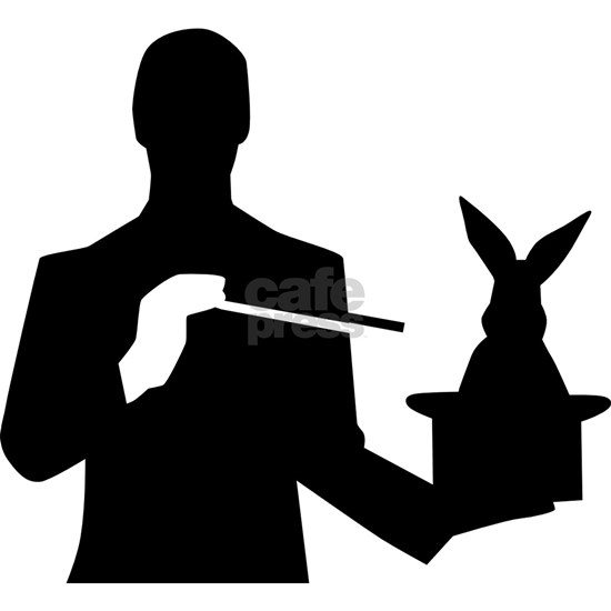 Magician top hat rabbit
