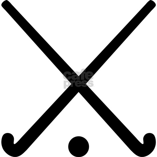 Crossed Field hockey clubs