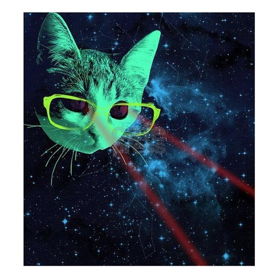 Laser Eyes Space Cat